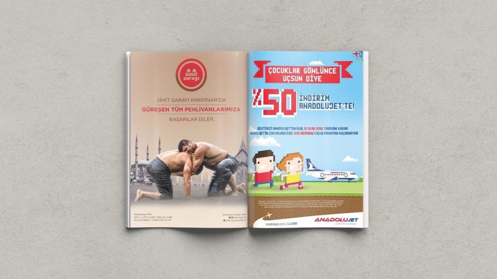 Simit Sarayı – Dergi Reklamı