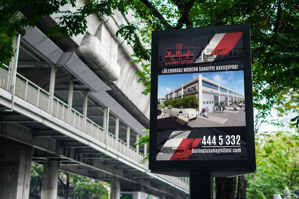 Ballıoğlu Sanayi Sitesi – Açık Hava Reklamı